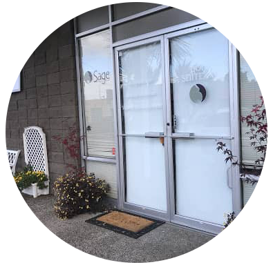 front doors of sage wellness center san mateo location