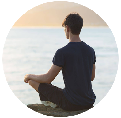 teen boy meditating by water tween and teen acupuncture