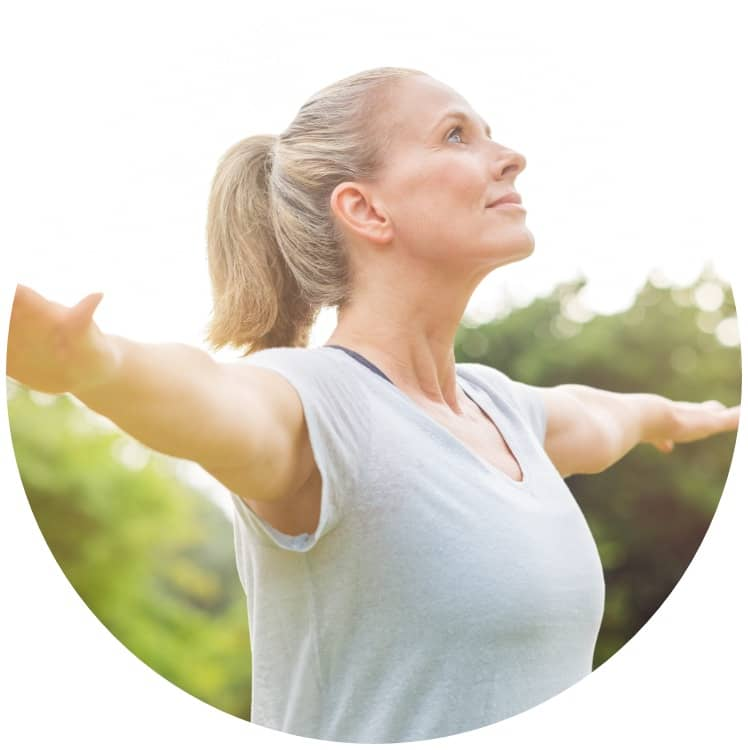 woman doing yoga wellness management photo